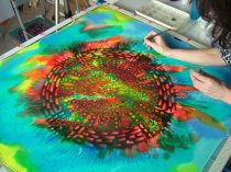silk art mandala