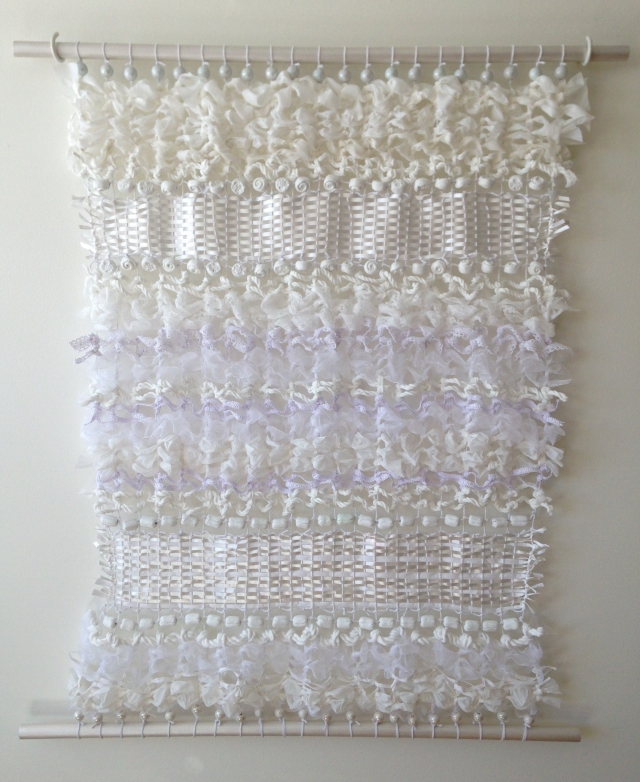 White on White Textile Art