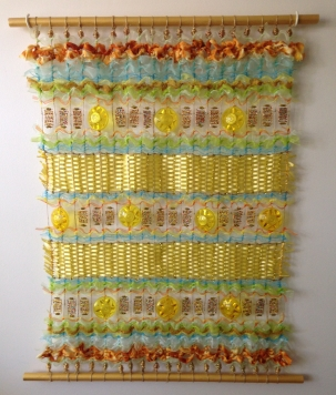 Textile Art - Golden Being