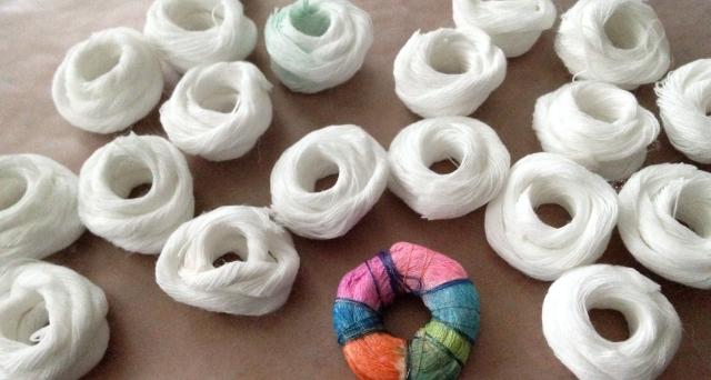 white rope beads
