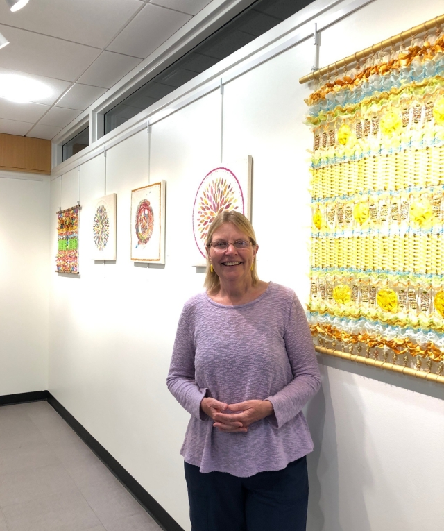 Art on display at Downers Grove Library, June 2019