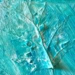 Weathered Art, painted leaf on canvas-3