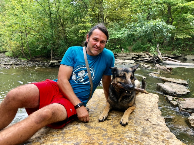 Petr and Ranger at Waterfall Glen Forest Preserve