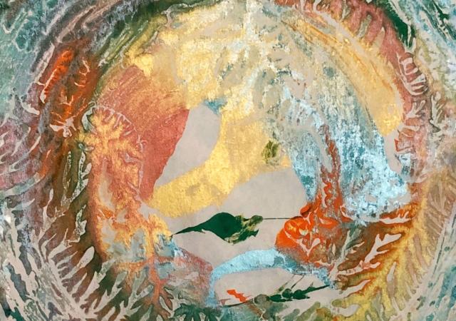 close up of art work - Inner Gaia